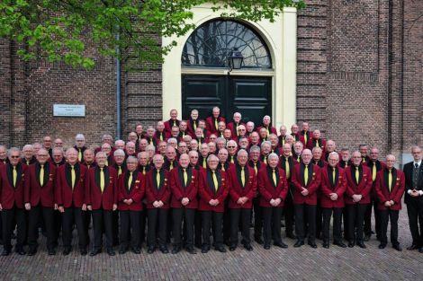 27 okt. Hollands Christelijk Mannenkoor tijdens viering