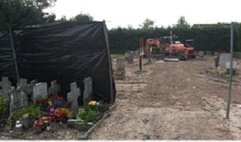 verwijderen graven in volle gang