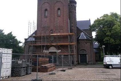 Onderhoud toren Joannes de Dooperkerk
