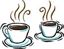 Koffie drinken in het Virtuele Parochiehuis