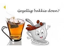 Koffie drinken in pastorie op woensdag